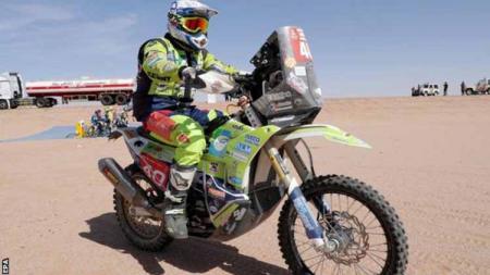 Seorang rider asal Belanda yakni Edwin Straver meninggal dunia setelah mengalami kecelakaan hebat di kejuaraan Reli Dakar 2020 di Arab Saudi. - INDOSPORT