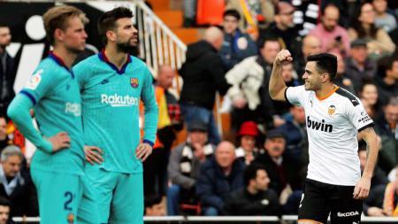Hasil pertandingan Valencia vs Barcelona berakhir dengan skor 2-0 dalam ajang LaLiga Spanyol 2019-20, Sabtu (25/01/20) malam WIB. - INDOSPORT