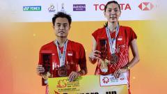 Indosport - Ganda campuran Indonesia, Hafiz Faizal/Gloria Emanuelle Widjaja berhasil menggondol hadiah cukup fantastis usai menjadi runner-up di Thailand Masters 2020.