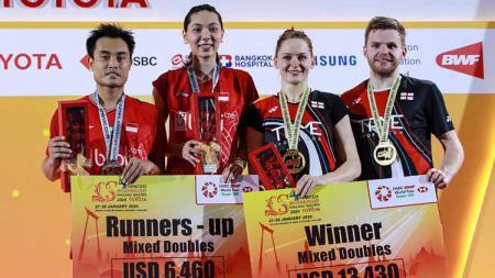 3 Fakta usai Hafiz Faizal/Gloria Emanuelle Widjaja tumbang dari Marcus Ellis/Lauren Smith di Thailand Masters 2020, Minggu (26/01/20). - INDOSPORT