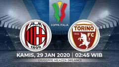 Indosport - Prediksi pertandingan perempat final Coppa Italia antara AC Milan vs Torino.