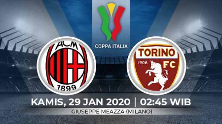 Prediksi pertandingan perempat final Coppa Italia antara AC Milan vs Torino. - INDOSPORT