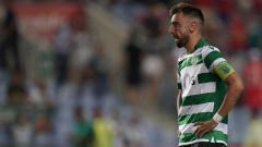 Indosport - Pemain baru Manchester United, Bruno Fernandes saat masih membela Sporting Lisbon.