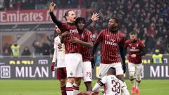 Indosport - Striker AC Milan, Zlatan Ibrahimovic merayakan golnya ke gawang Torino di Coppa Italia