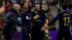Indosport - Lucas Vazquez merayakan golnya bersama rekan-rekannya di Real Madrid