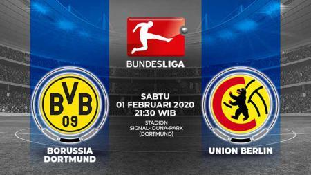 Berikut prediksi pertandingan antara Borussia Dortmund vs Union Berlin pada pekan ke-20 Bundesliga Jerman 2019-2020, Sabtu (01/02/20) WIB - INDOSPORT