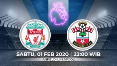 Indosport - Liverpool akan menjamu Southampton di pekan ke-25 Liga Inggris 2019/20. Pertadingan ini dapat disaksikan secara streaming, Sabtu (01/02/20) pukul 22:00 WIB.