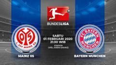 Indosport - Berikut link live streaming pertandingan sepak bola kompetisi Bundesliga Jerman pada pekan ke-20 antara Mainz 05 vs Bayern Munchen.
