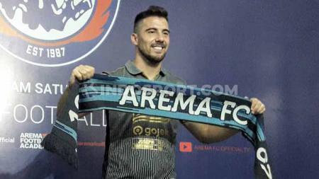 Striker klub Liga 1, Arema FC asal Argentina, Jonathan Bauman. - INDOSPORT