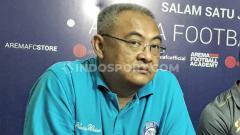 Indosport - General Manager klub Liga 1 Arema FC, Ruddy Widodo, memastikan langkah timnya untuk kembali merombak komposisi pemain, pasca menjalani Piala Gubernur Jatim.