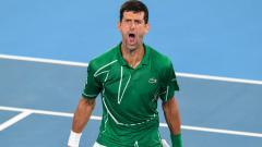 Indosport - Novak Djokovic mengalahkan Roger Federer di semifinal Australia Terbuka 2020.
