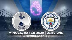 Indosport - Pertandingan lanjutan Liga Inggris 2019-2020 antara Tottenham Hotspur vs Manchester City.