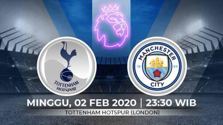 Pertandingan antara TTottenham Hotspur vs Manchester City (Liga Primer). - INDOSPORT