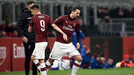 Nomor punggung 9 AC Milan sempat digunakan oleh Krzysztof Piatek - INDOSPORT