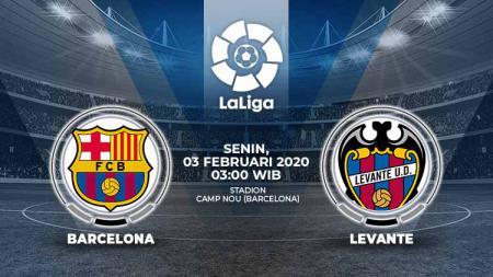 Berikut prediksi pertandingan LaLiga Spanyol 2019-2020 pekan ke-22 antara Barcelona vs Levante, Senin (03/02/20) WIB. - INDOSPORT