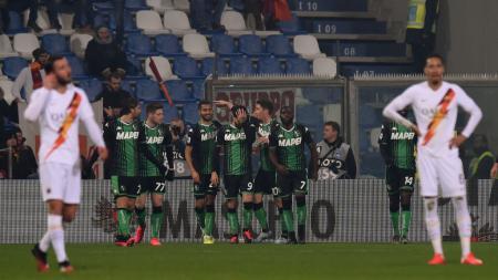 Hasil pertandingan Serie A Italia giornata ke-22 antara Sassuolo vs AS Roma yang berakhir tragis untuk Serigala Ibukota, Minggu (02/02/20) dini hari WIB. - INDOSPORT