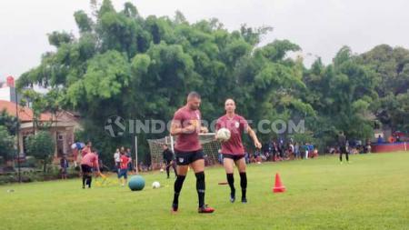 Wallace Costa dan Bruno Silva sudah kembali berlatih bersama PSIS di Lapangan Telo, Banyumanik. - INDOSPORT