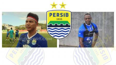 Achmad Jufriyanto dan Victor Igbonefo tampak tak mungkin bisa bersatu padu untuk memperkuat lini belakang klub Liga 1, Persib Bandung. - INDOSPORT