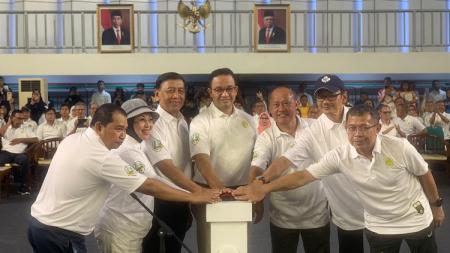 Peresmian dilakukan oleh Gubernur DKI Jakarta, Anies Baswedan, lewat proses ritual umum dalam dunia olahraga berupa seremonial menyalakan api kauldron Gedung Olahraga UNJ. - INDOSPORT