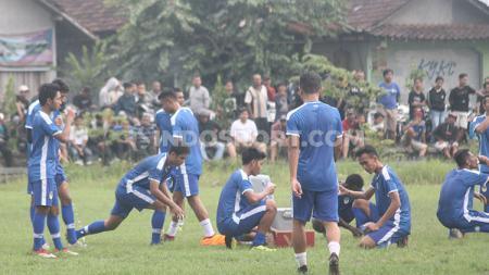 Klub Liga 2 2020, PSIM Yogyakarta, tetap menggelar latihan rutin di tengah maraknya wabah virus Corona. - INDOSPORT