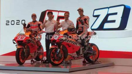 Duo pembalap Repsol honda Marc Marquez dan Alex Marquez memberikan wejangan untuk pebalap muda Indonesia mengejar mimpi menjadi juara dunia. - INDOSPORT
