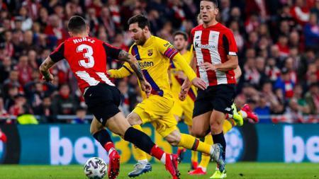 Barcelona harus tersingkir dari ajang Copa del Rey dan masa depan Lionel Messi di Camp Nou semakin berada di ujung tanduk. - INDOSPORT