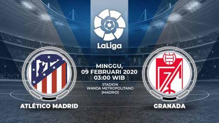 Berikut prediksi pertandingan Atletico Madrid vs Granada dalam lanjutan LaLiga Spanyol 2019-2020 pekan ke-23, Minggu (09/02/20) WIB - INDOSPORT