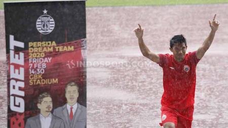 Sandi Sute dalam acara pengenalan tim Persija Jakarta jelang Liga 1 2020 di hadapan para sponsor. - INDOSPORT