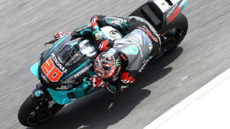 Fabio Quartararo menjadi yang tercepat pada hari pertama tes pramusim MotoGP 2020 di Sirkuit Sepang, Malaysia, Jumat (07/02/20). - INDOSPORT