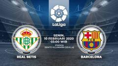 Indosport - Berikut prediksi pertandingan LaLiga Spanyol 2019-2020 antara Real Betis vs Barcelona, Senin (10/02/20).