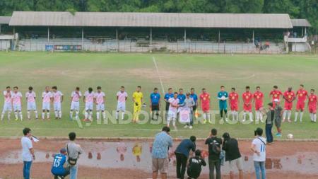 Pertandingan antara PSB Bogor vs klub Liga 1, Barito Putera. - INDOSPORT