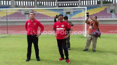 Ketum PSSI, Mochamad Iriawan takjub melihat perubahan Stadion Manahan, Solo yang hampir selevel dengan Stadion Utama Gelora Bung Karno (SUGBK). - INDOSPORT