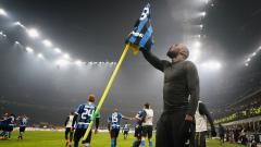 Indosport - Romelu Lukaku mengancam kudeta Cristiano Ronaldo yang mau menyabet predikat top skor Serie A Liga Italia dari Ciro Immobile.