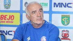Indosport - Pelatih klub Liga 1, Arema FC, Mario Gomez.