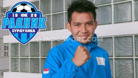 Pemain baru klub Liga Serbia FK Radnik Surdulica, Witan Sulaeman pilih nomor punggung yang sama dengan kiper Persija Jakarta. - INDOSPORT