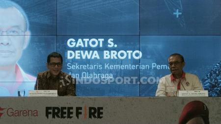 Sesmenpora Gatot S. Dewa Broto menyampaikan pujian untuk penyelenggaraan Piala Presiden eSports. - INDOSPORT