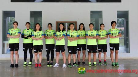 Gregoria Mariska dkk di tim bulutangkis Indonesia untuk Badminton Asia Team Championships 2020. - INDOSPORT