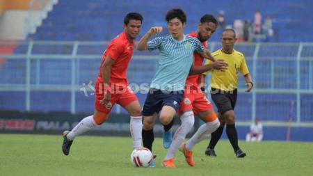 Persija Jakarta berhasil mengalahkan Persela Lamongan 4-1 pada grup B Piala Gubernur Jatim 2020, di Stadion Panjuruhan, Malang, Selasa (11/02/2020). - INDOSPORT