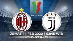 Indosport - Berikut prediksi pertandingan antara AC Milan vs Juventus pada leg pertama semifinal Coppa Italia 2019-2020, Jumat (14/02/20) WIB