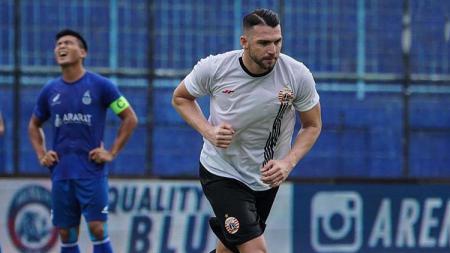 Striker klub LIga 1 Persija Jakarta, Marko Simic mengatakan terinspirasi rekan senegaranya yag memperkuat Real Madrid, Luka Modric. - INDOSPORT