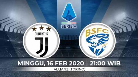 Juventus akan menjamu Brescia pada giornata ke-24 Serie A Italia. Pertandingan ini dapat disaksikan secara streaming, Minggu (16/2/20), mulai pukul 21:00 WIB. - INDOSPORT