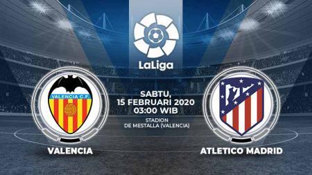 Prediksi pertandingan LaLiga Spanyol pekan ke-24 antara Valencia vs Atletico Madrid. - INDOSPORT