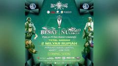 Indosport - Pengurus Cabang Nahdlatul Ulama (PCNU) Banyuwangi bekerja sama dengan BESAF dan Kominfo akan menyelenggarakan kompetisi bertajuk BESAF NU ESPORT LEAGUE.