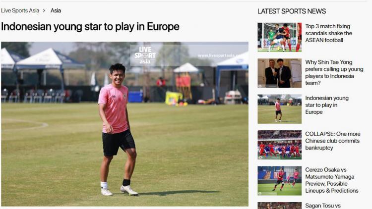 Gabung Klub Serbia, Media Asing Samakan Witan Sulaeman dengan Legenda Inter Milan Copyright: Livesportasia