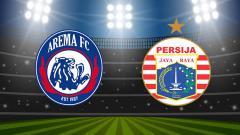 Indosport - Ilustrasi logo Arema FC dan Persija Jakarta.