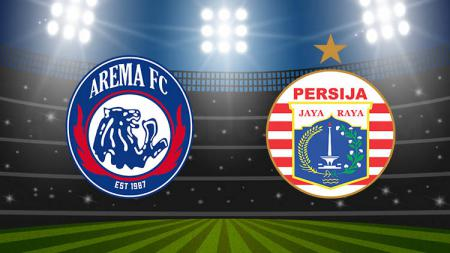 Ilustrasi logo Arema FC dan Persija Jakarta. - INDOSPORT