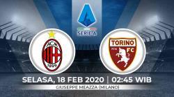 Prediksi pertandingan Serie A Liga Italia pekan ke-24 antara AC Milan vs Torino.