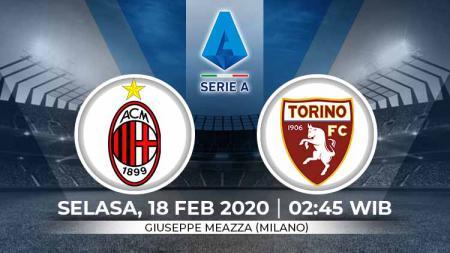 Prediksi pertandingan Serie A Liga Italia pekan ke-24 antara AC Milan vs Torino. - INDOSPORT
