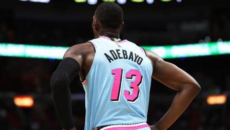 Bam Adebayo, bintang basket NBA dari tim Miami Heat memenangkan Skill Challenge di NBA All Star 2020