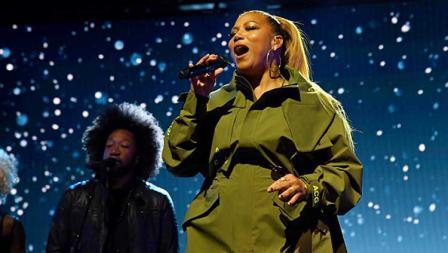 Queen Latifah, penyanyi ternama AS mengisi acara di kontes NBA All Star 2020